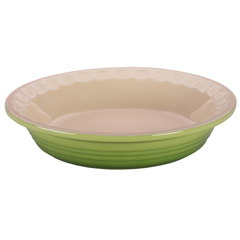 Le Creuset Heritage Palm Stoneware Pie Pan, 9 Inch