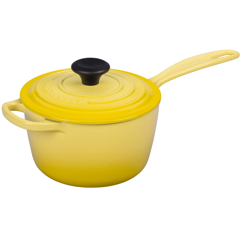 Le Creuset Signature Soleil Cast Iron 1.75 Quart Saucepan