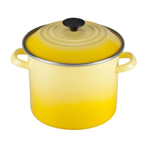 Le Creuset Soleil Yellow Enamel on Steel 10 Quart Stockpot