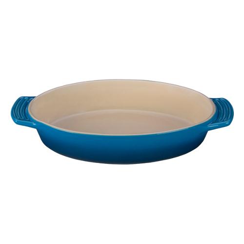 Le Creuset Marseille Blue Stoneware Oval Baking Dish, 1 Quart