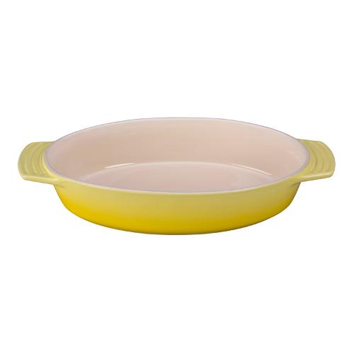 Le Creuset Soleil Yellow Stoneware Oval Baking Dish, 3.5 Quart