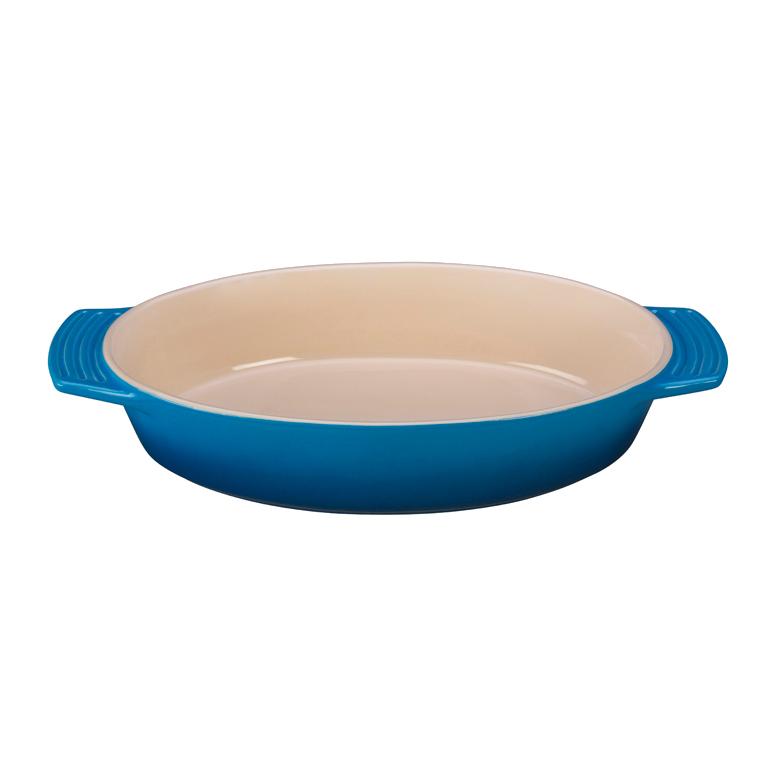 Le Creuset Marseille Blue Stoneware Oval Baking Dish, 3.5 Quart