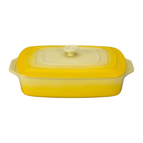 Le Creuset Soleil Yellow Stoneware Covered Rectangular Casserole Dish, 3.5 Quart