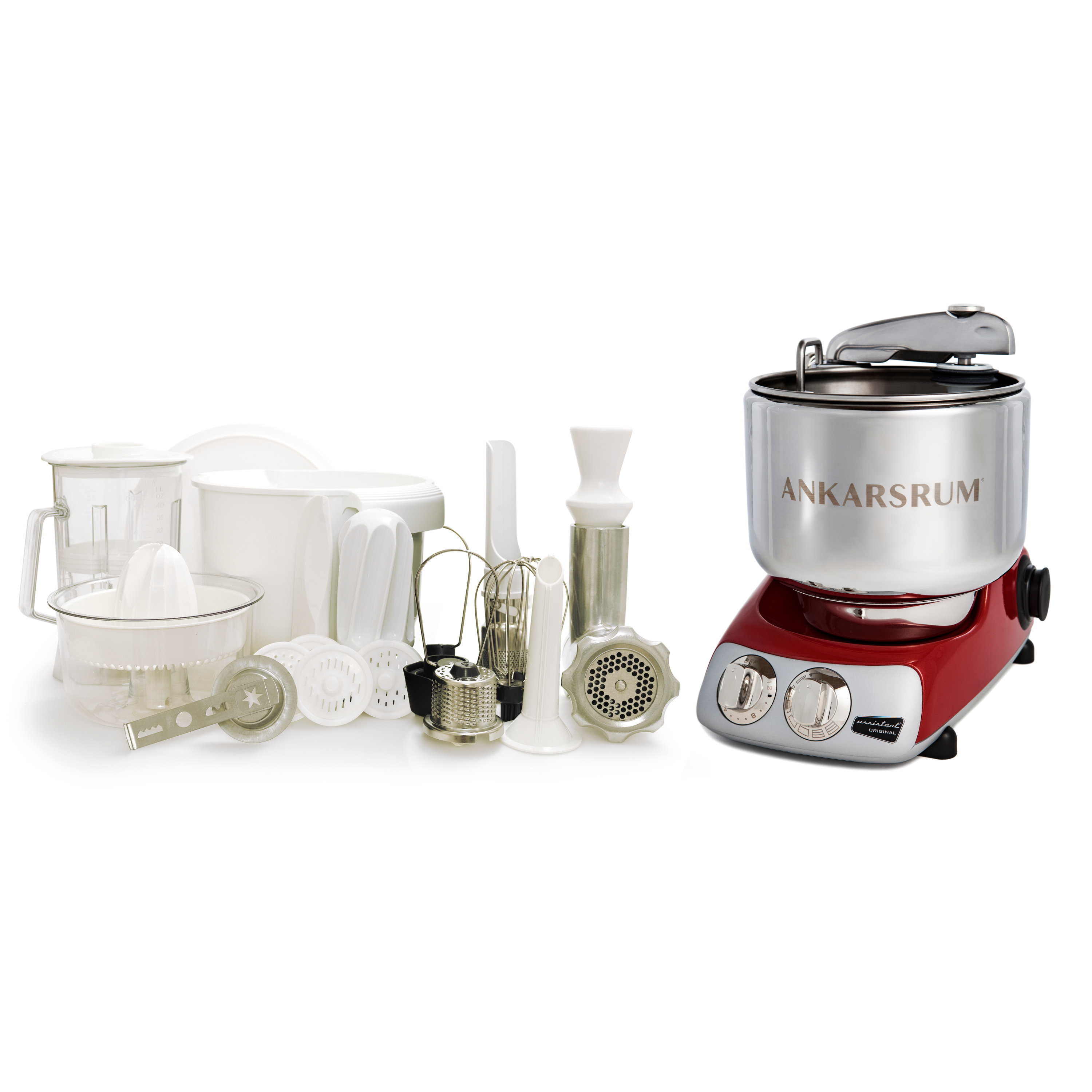 Ankarsrum Original AKM 6290 Red Stand Mixer Deluxe Package