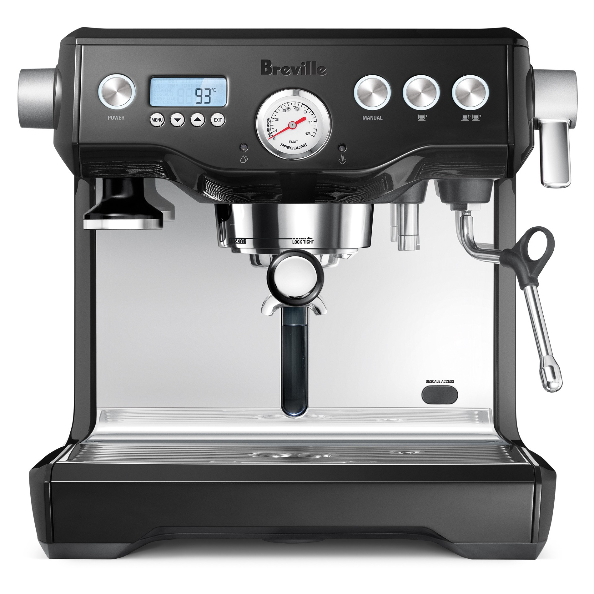 Breville Dual Boiler Black Sesame Descalable Espresso Machine