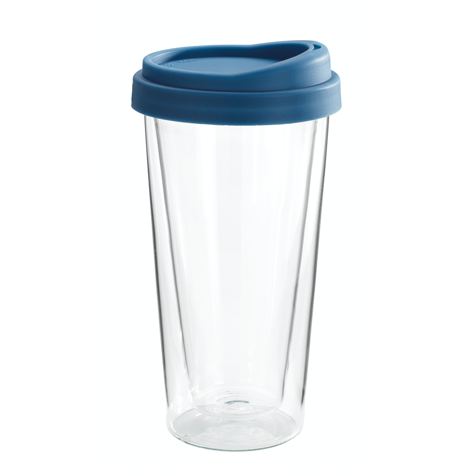GoClear Grape Double Walled Glass Tumbler with Silicone Lid, 14.5 Ounce