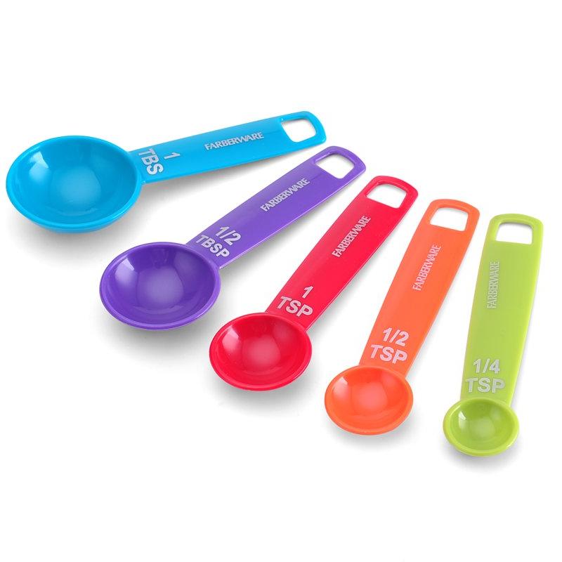 Farberware Mixed Colors Measuring Spoons, Set of 5