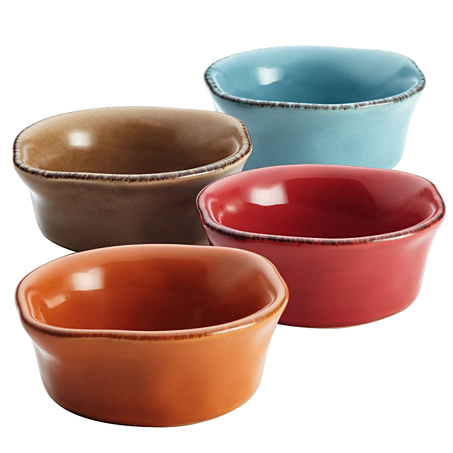 Rachael Ray Cucina Assorted Oval Stoneware Dipping Cup, Set of 4
