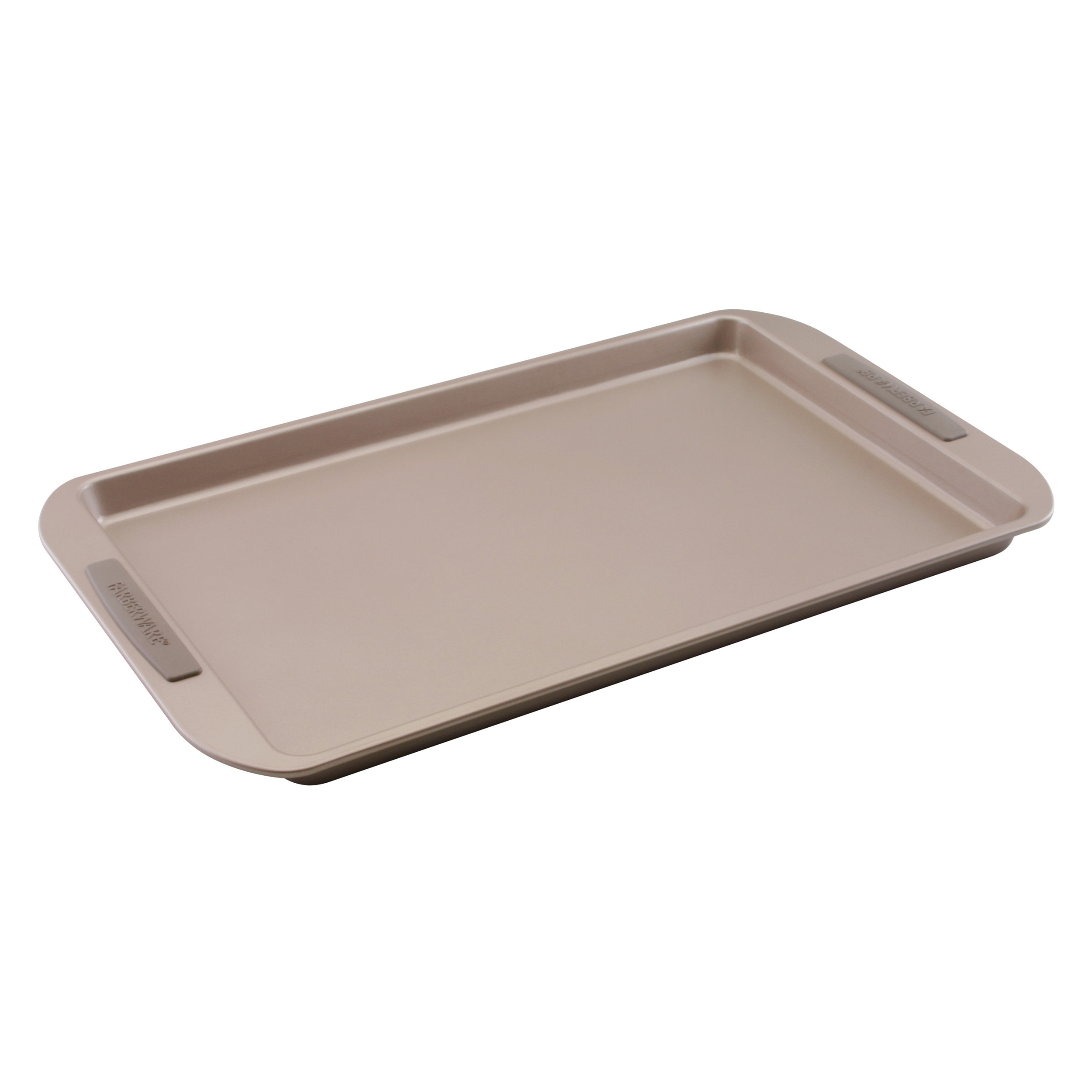 Farberware Nonstick Gray Carbon Steel Cookie Pan with Silicone Grips, 11 x 17 Inch