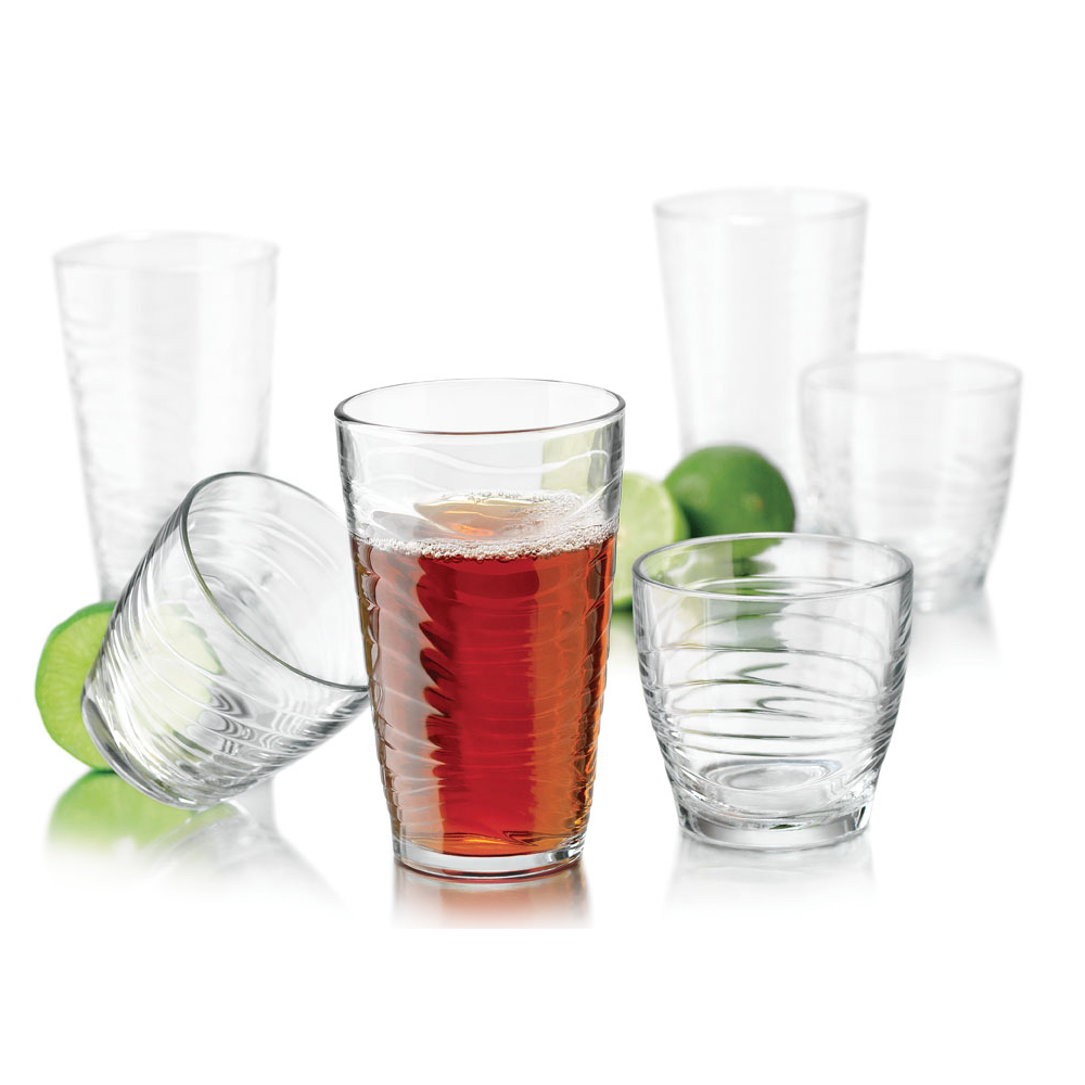 Libbey Orbita 16 Piece Drinking Glass Set