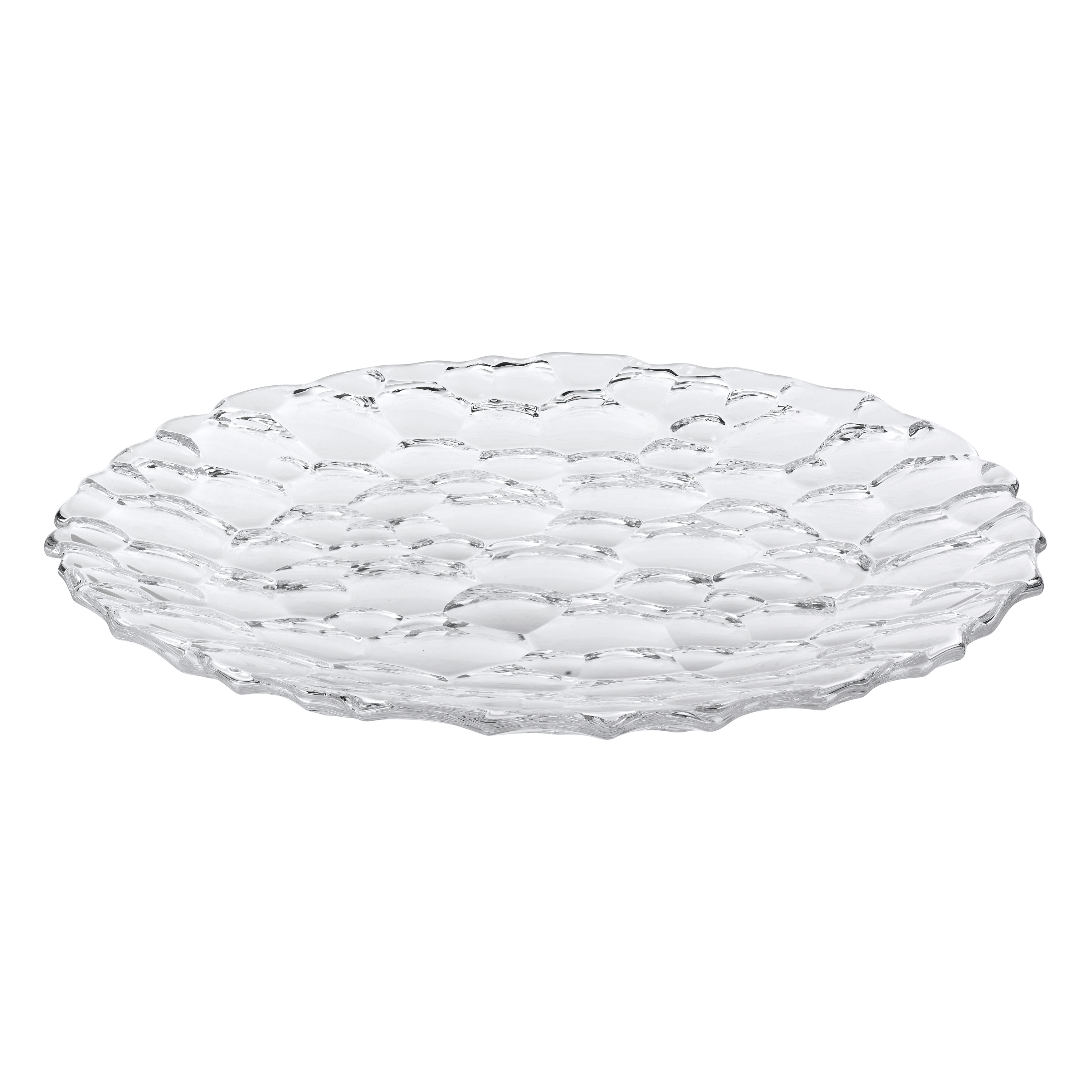 Nachtmann Sphere Non-leaded Crystal 9 Inch Plate, Set of 2