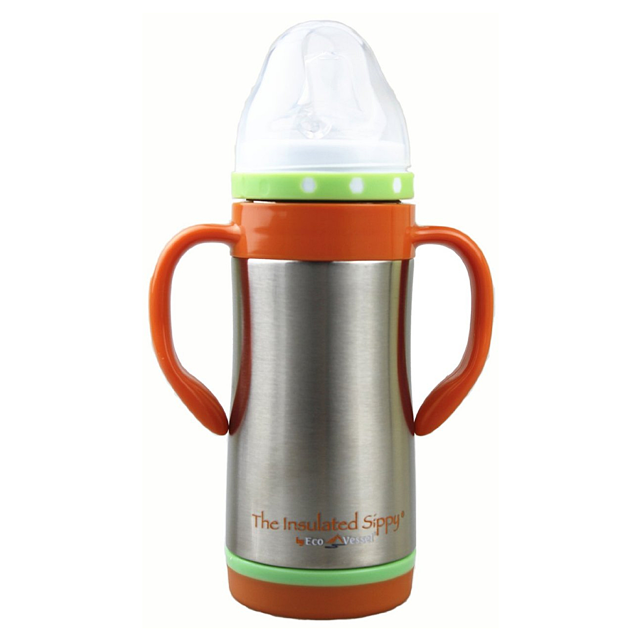 Eco Vessel Insulated Silver Express Sippy Steel Bottle, 10 Ounce