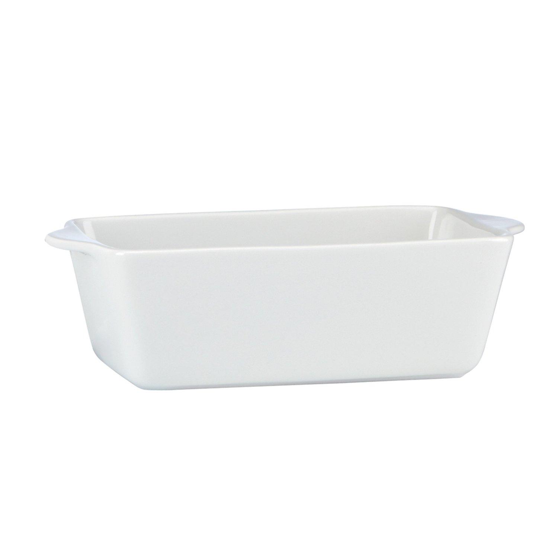Mario Batali by Dansk White Stoneware Loaf Pan, 10 x 5 Inch