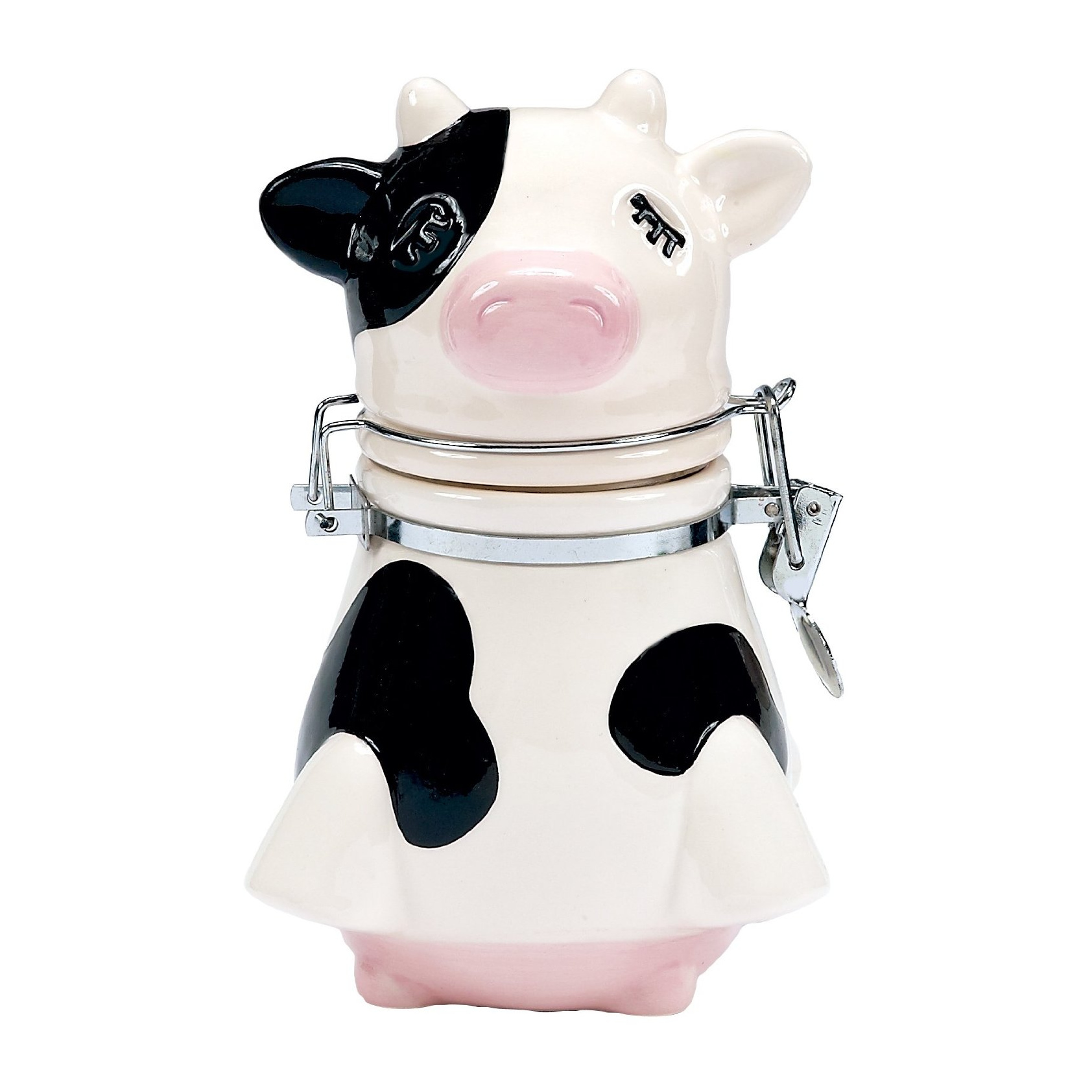 Boston Warehouse Udderly Cows Earthenware Hinged Jar