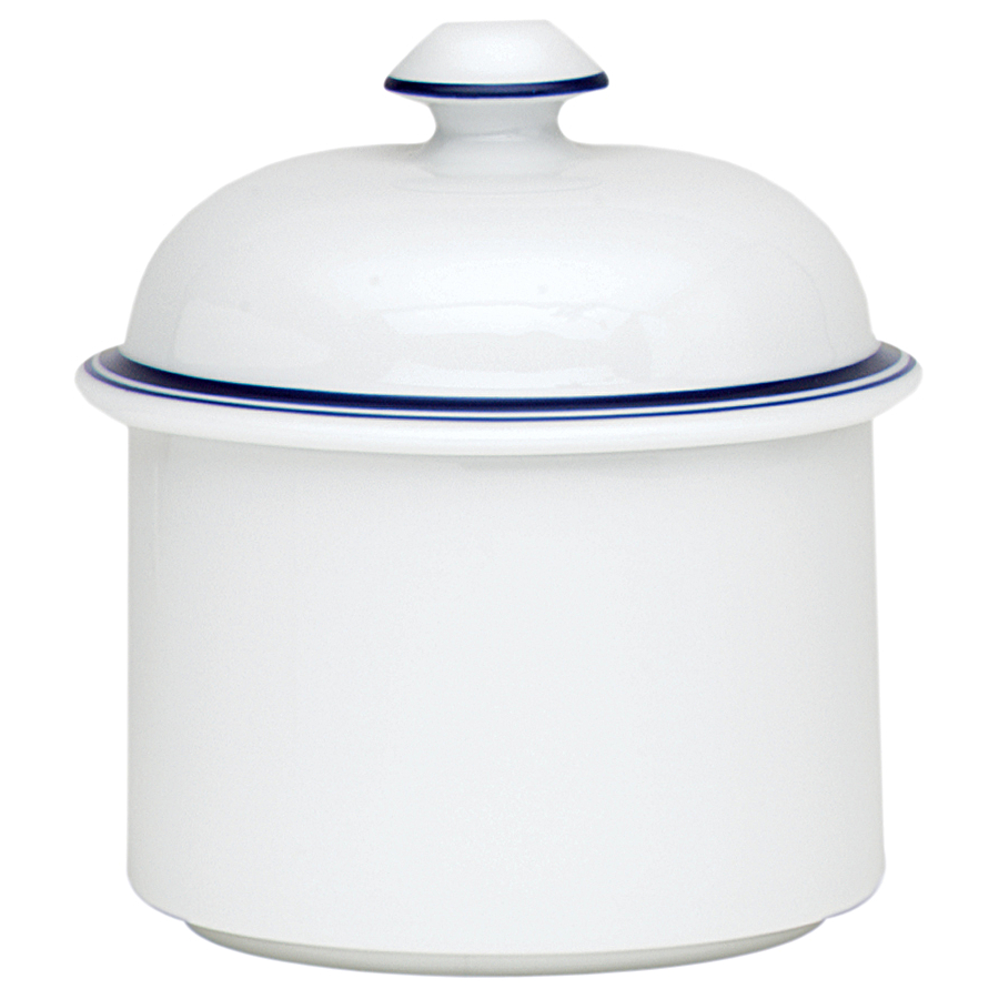 Dansk Christianshavn Blue Porcelain Sugar Bowl, 4.5 Inch