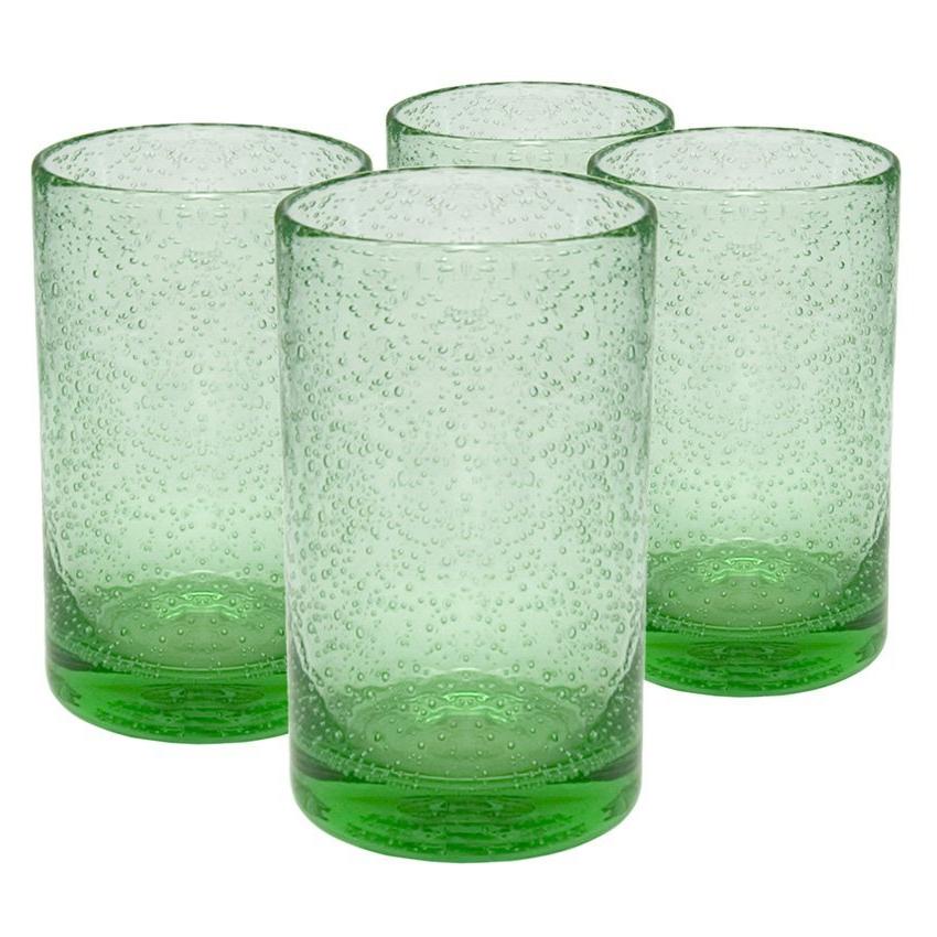 Artland Iris Light Green Glass Highball Tumbler