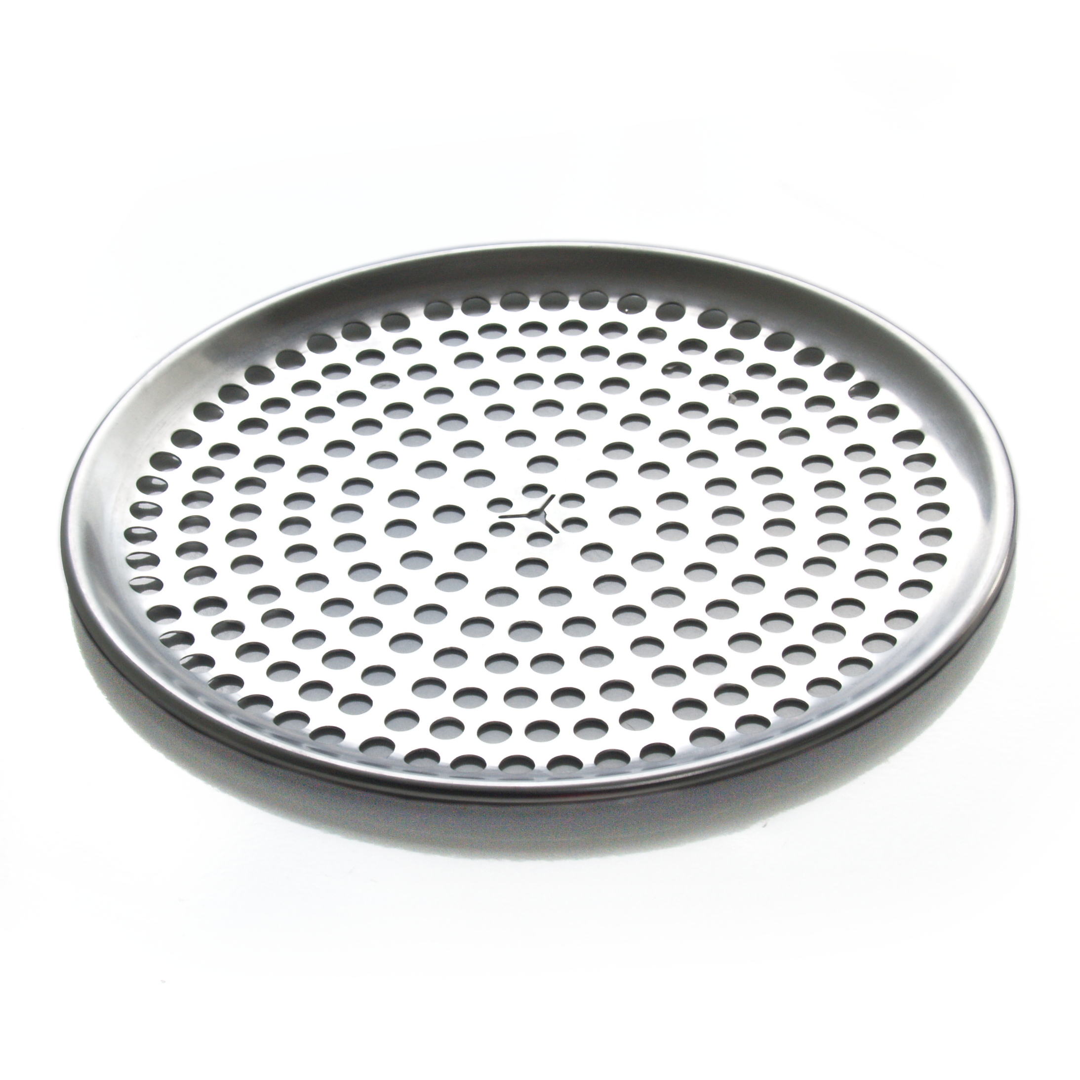 Browne Basics Aluminum Perforated Pizza Tray, 9 Inch