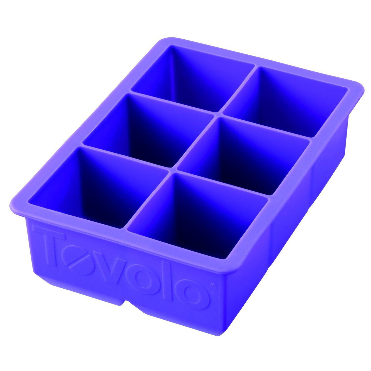 Tovolo King Cube Royal Purple Silicone Ice Tray