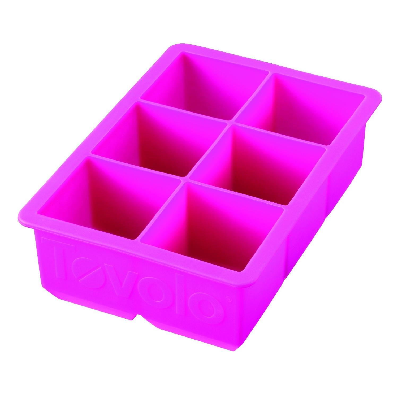 Tovolo King Cube Fuchsia Silicone Ice Tray