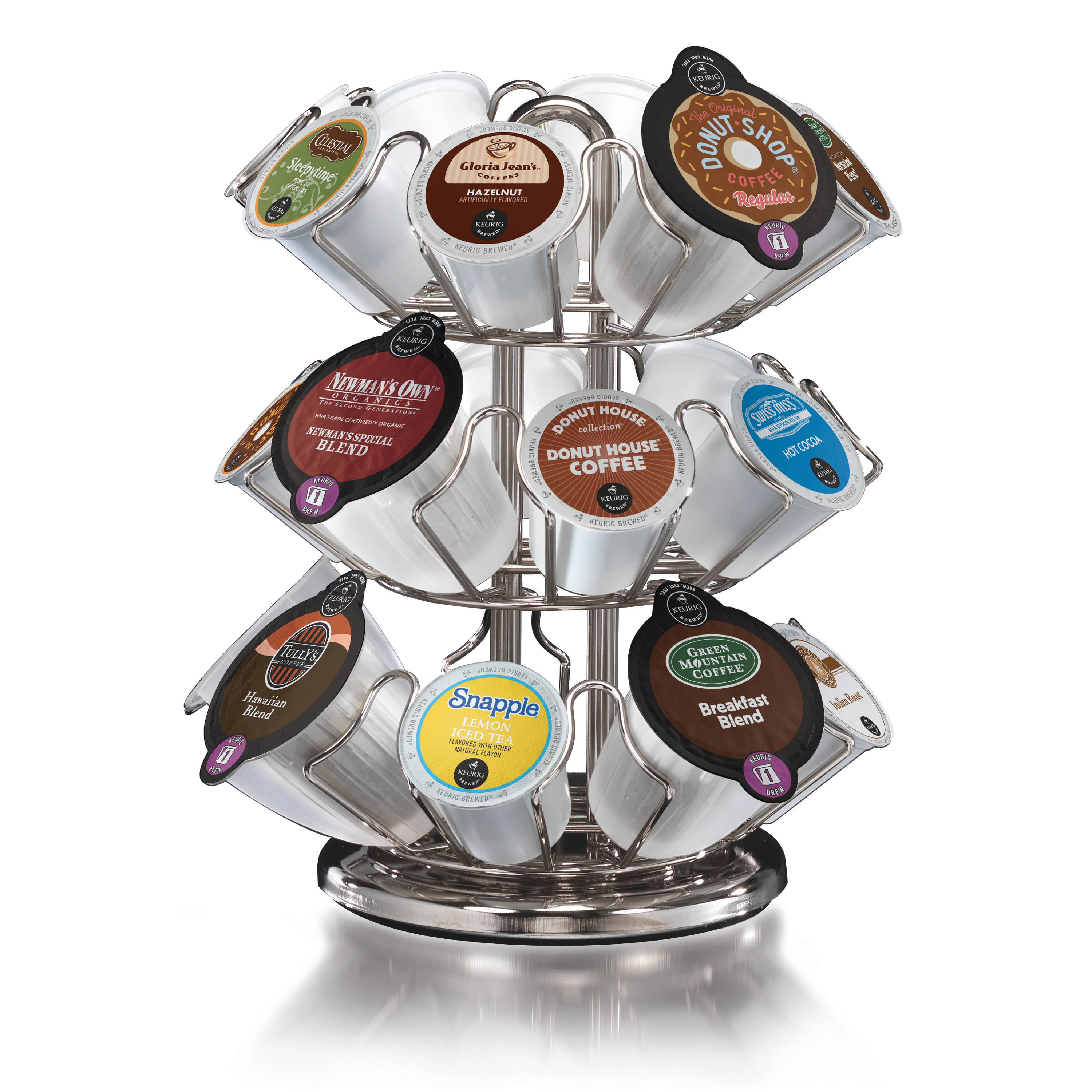 Keurig 2.0 24 Count K-Cup and K-Carafe Pack Silver Finish Carousel