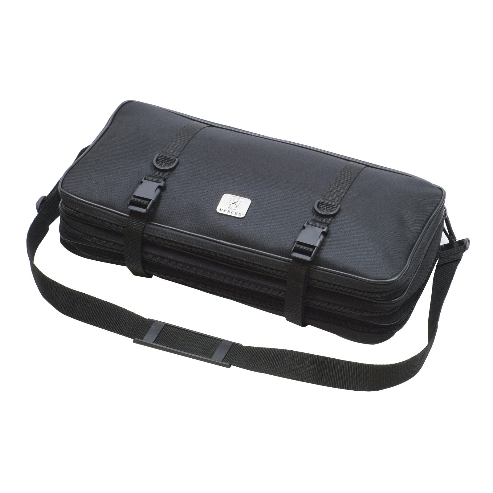 Mercer Black Triple-Zip Knife Case