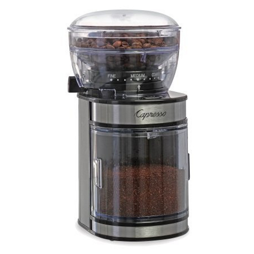 Capresso Electric Ceramic and Stainless Steel Espresso and Coffee Bean Burr Grinder
