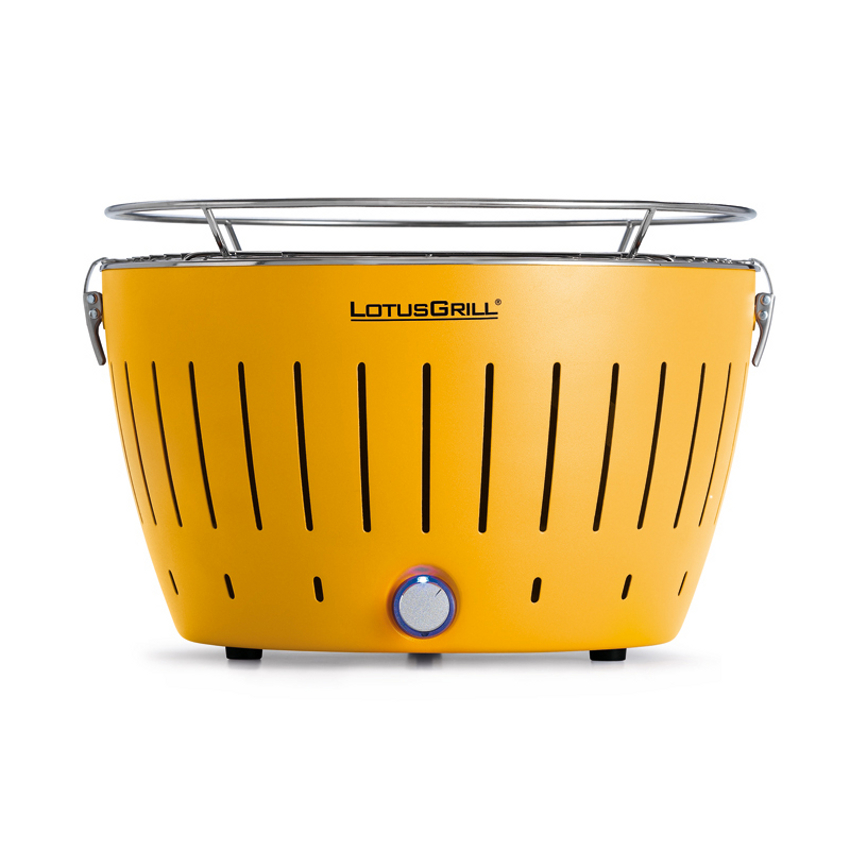 LotusGrill Corn Yellow Smokeless Charcoal Grill With Transport Bag