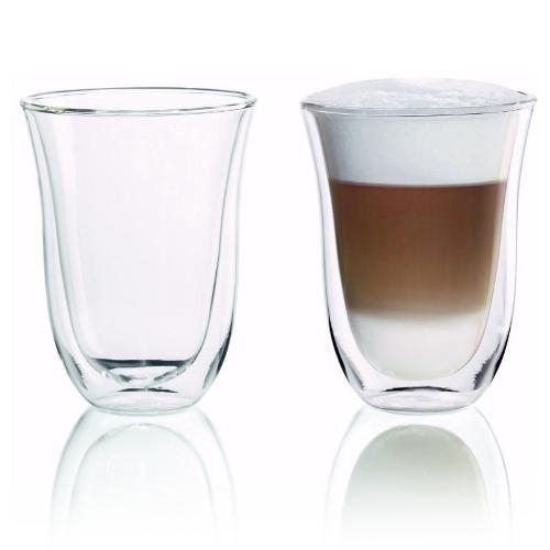 Delonghi Double Walled Thermo Latte Macchiato Glass, Set of 2