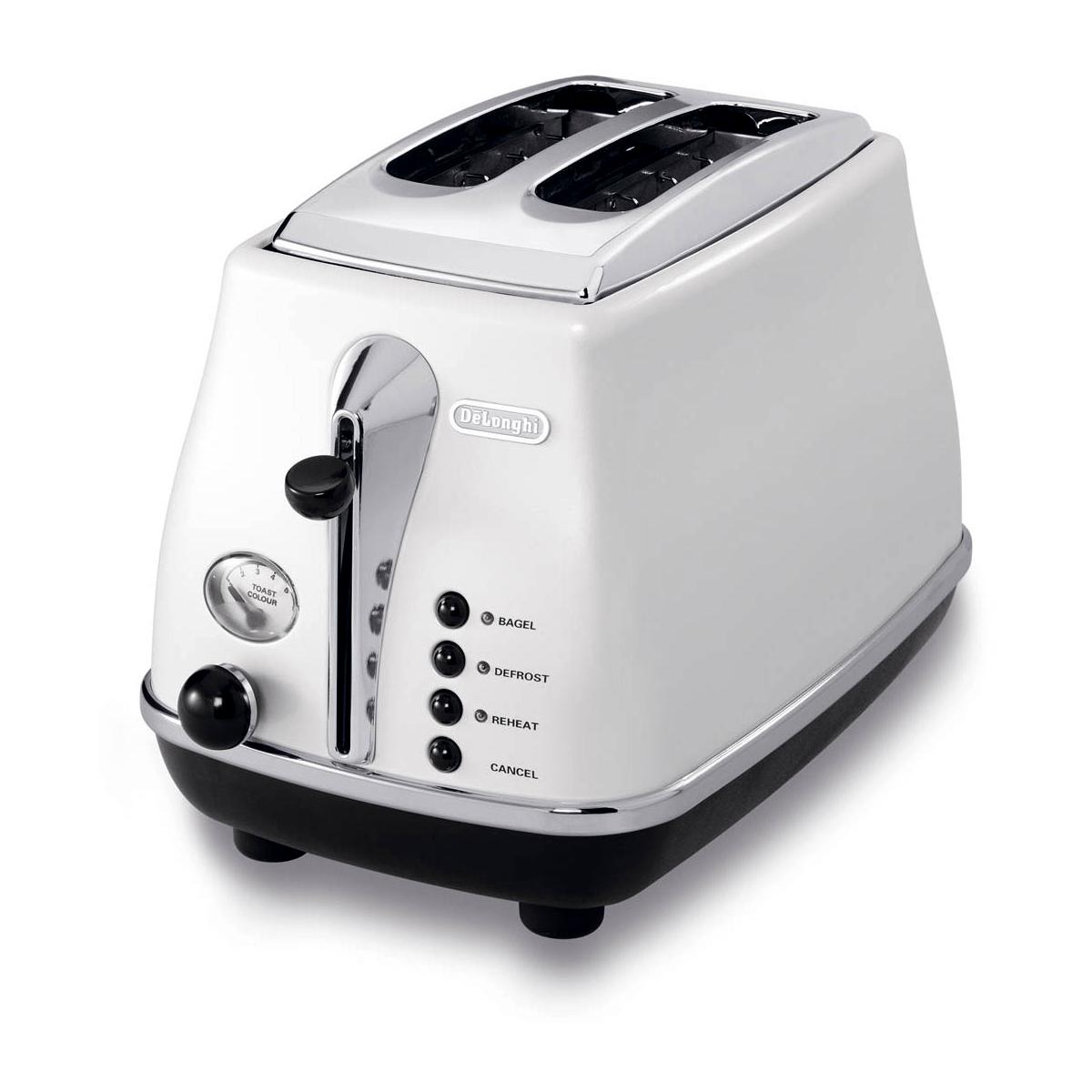 Delonghi Icona White 2-Slice Toaster