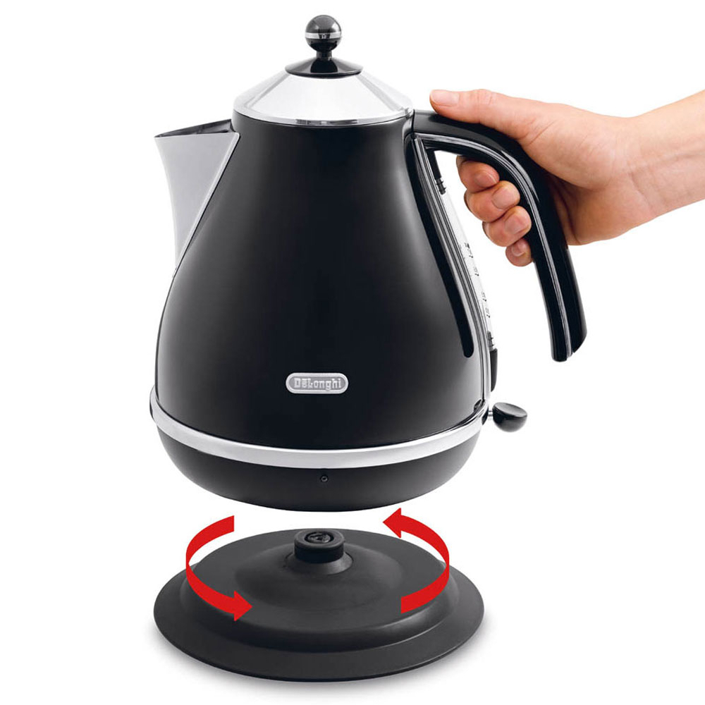 Delonghi Icona Black Stainless Steel Kettle