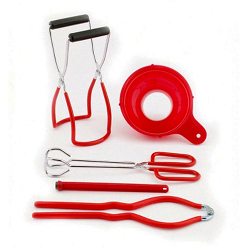 Back To Basics 5 Piece Red Home Canning Kit