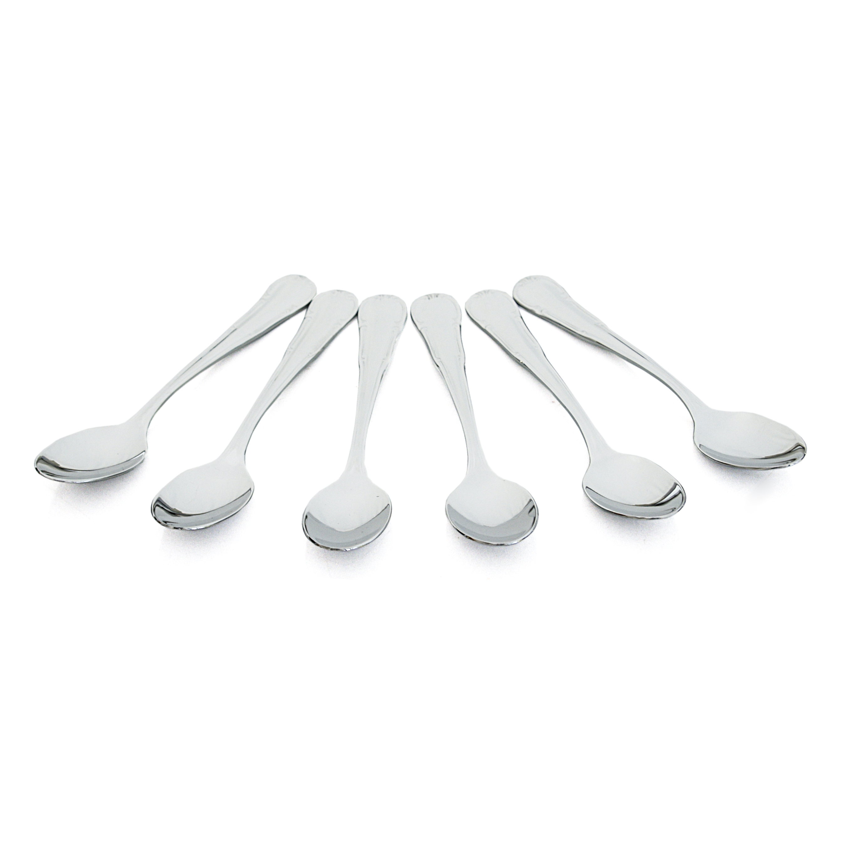 WMF Barock Cromargan 18/10 Stainless Steel Espresso Spoon, Set of 6