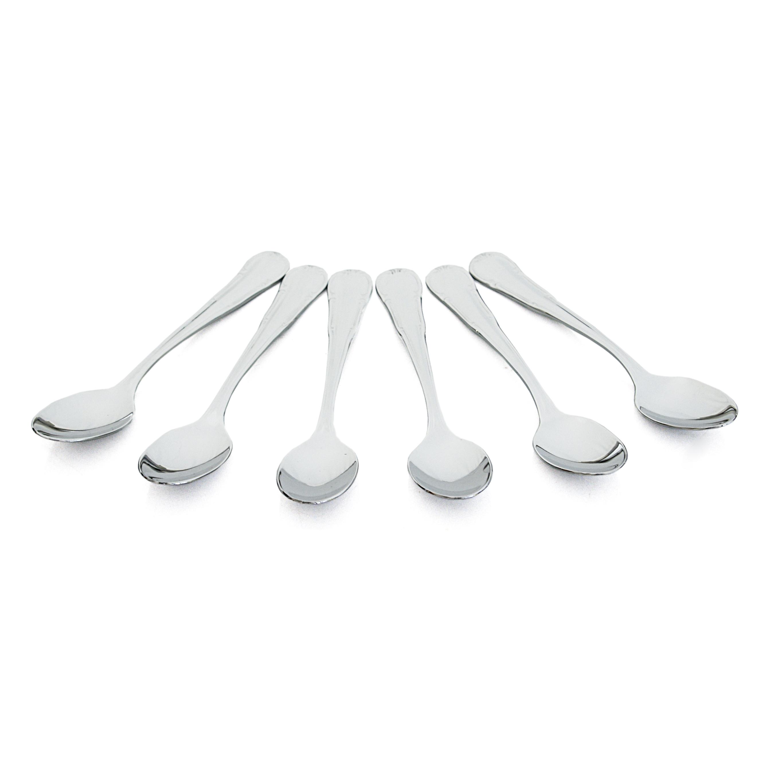 WMF Barock Cromargan 18/10 Stainless Steel Espresso Spoon, Set of 6