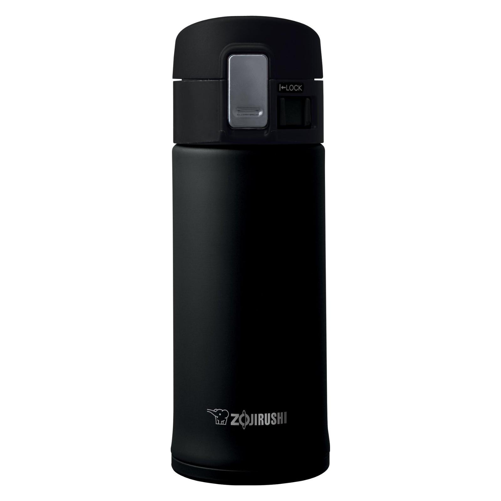 Zojirushi Black Stainless Steel 12 Ounce Vacuum Insulated Flip Top Mug