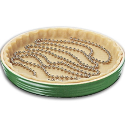 Kitchen Supply Stainless Steel Perfect Crust Pie Weight Chain
