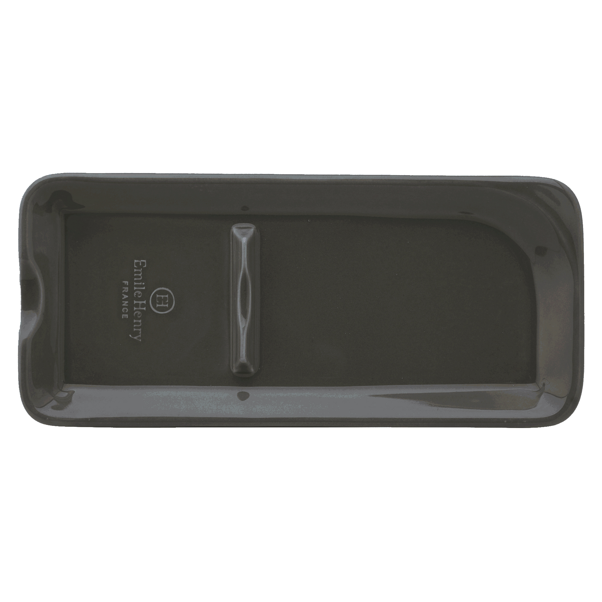 Emile Henry Slate Ceramic 9 x 4 Inch Spoon Rest