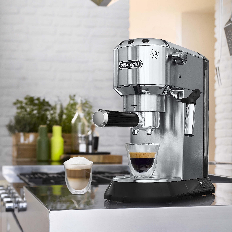 Delonghi Dedica Stainless Steel Pump Espresso and Cappuccino Machine