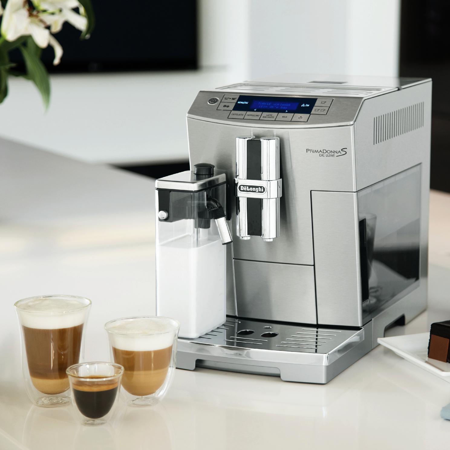 Delonghi Prima Donna S De Luxe Stainless Steel Super Automatic Espresso Machine