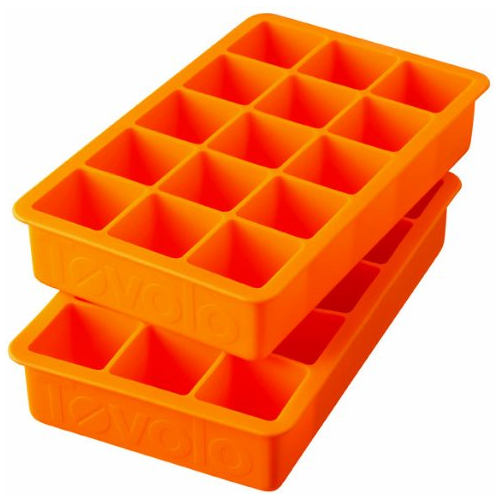 Tovolo Perfect Cube Orange Peel Silicone Ice Tray, Set of 2