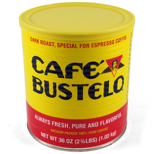 Bustelo Dark Roast Ground Espresso and Coffee Can, 36 Ounce