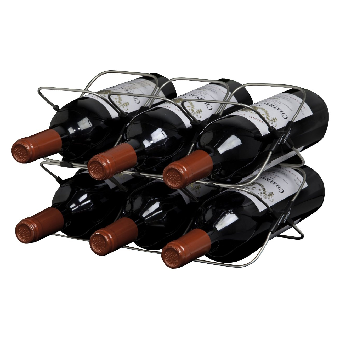 Rabbit 6-Bottle Space Saving Wine Rack
