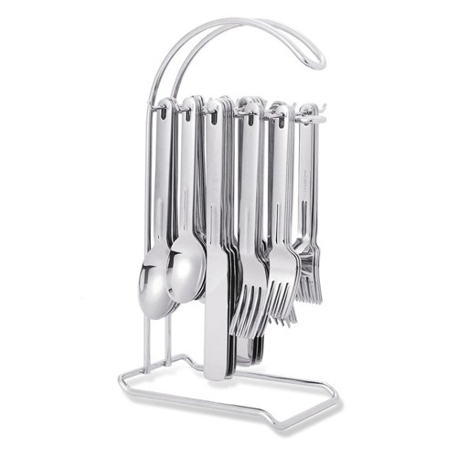 Supreme Housewares 20 Piece Stainless Steel Flatware Set with Stand, Service for 4