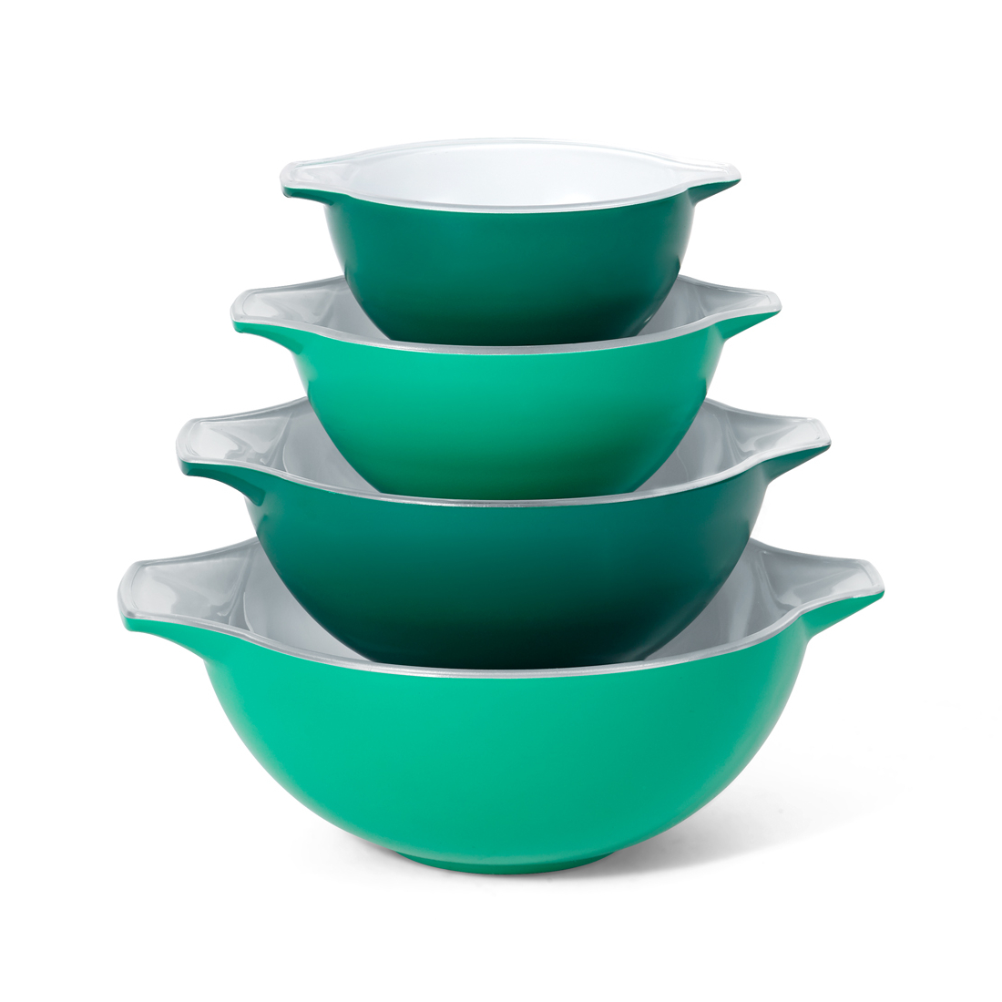 Creo SmartGlass 4 Piece Bali Green Nesting Bowl Set
