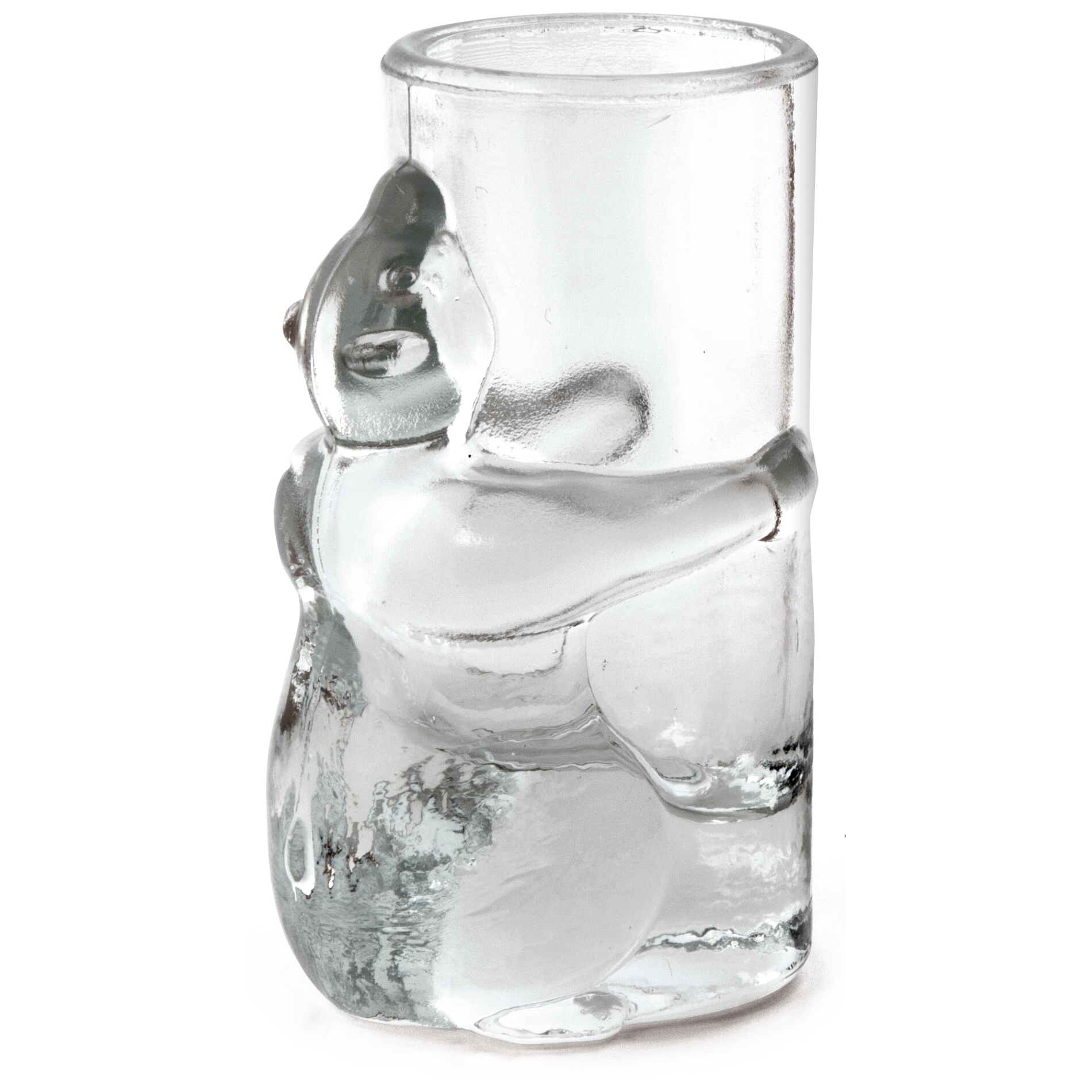 Kikkerland Bear 1.5 Ounce Shot Glass, Set of 4