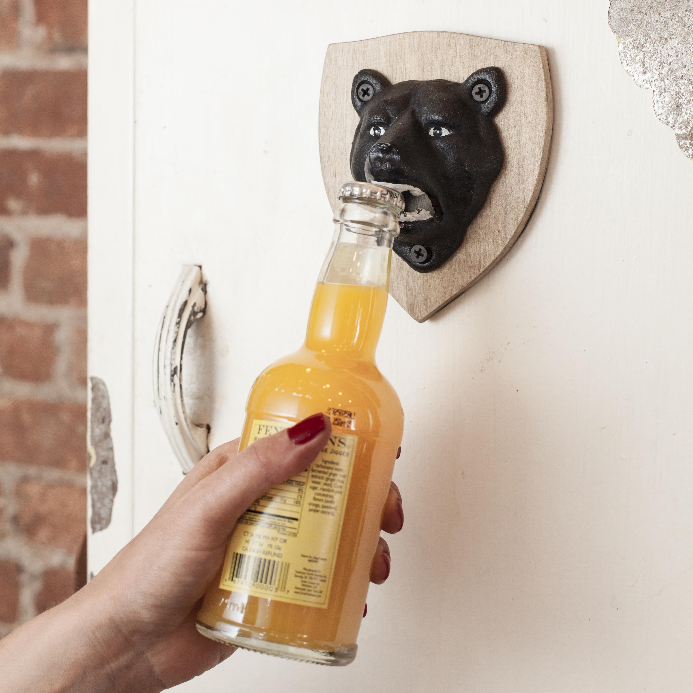 Kikkerland Wall Mounted Magnetic Bear Bottle Opener