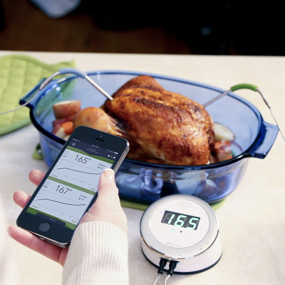 iDevices Bluetooth Smart White Kitchen Thermometer
