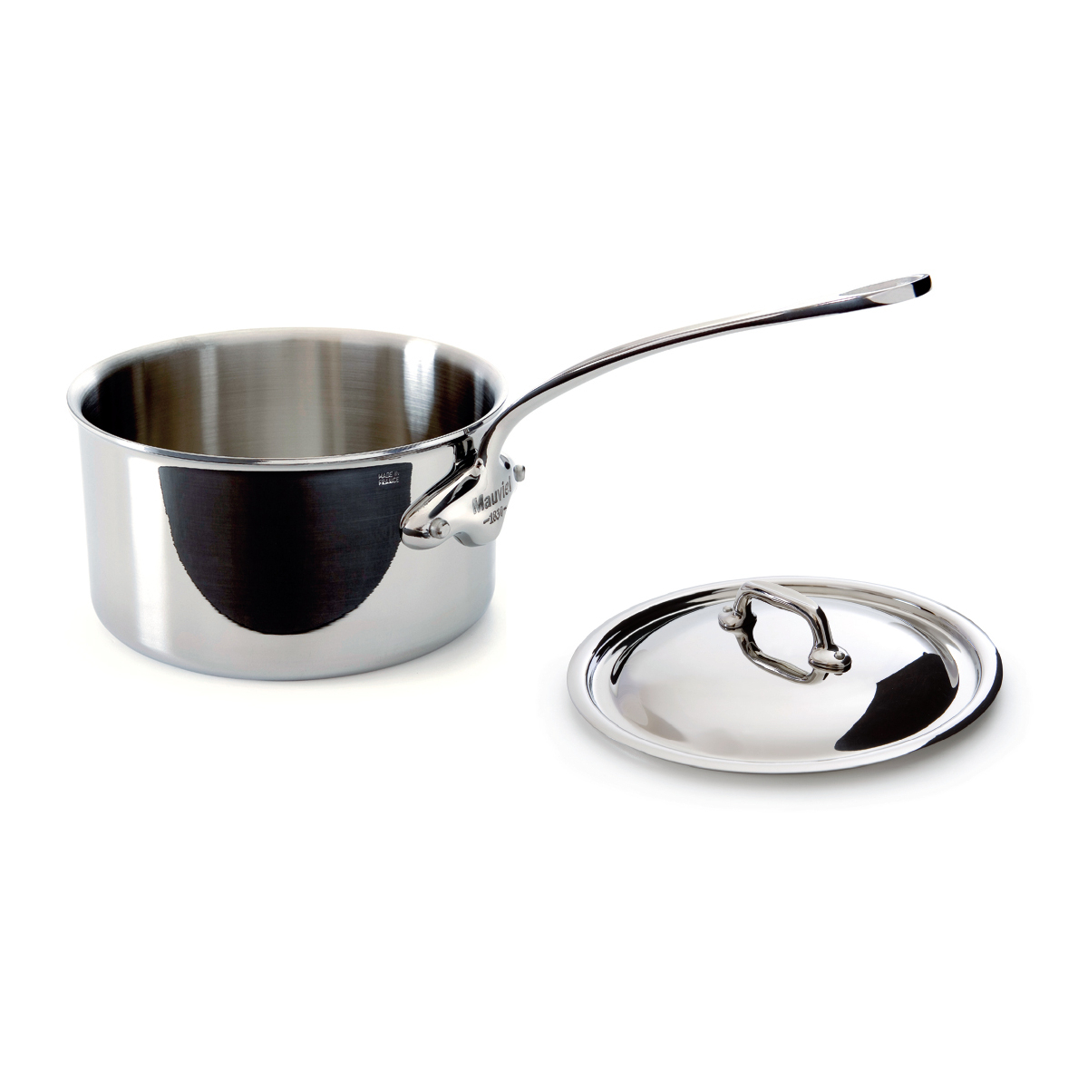 Mauviel M'cook Stainless Steel 0.9 Quart Covered Saucepan