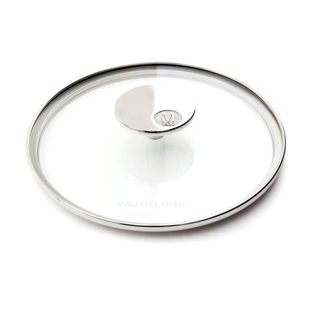 Mauviel M'cook Tempered Glass 11 Inch Lid with Stainless Steel Knob Handle
