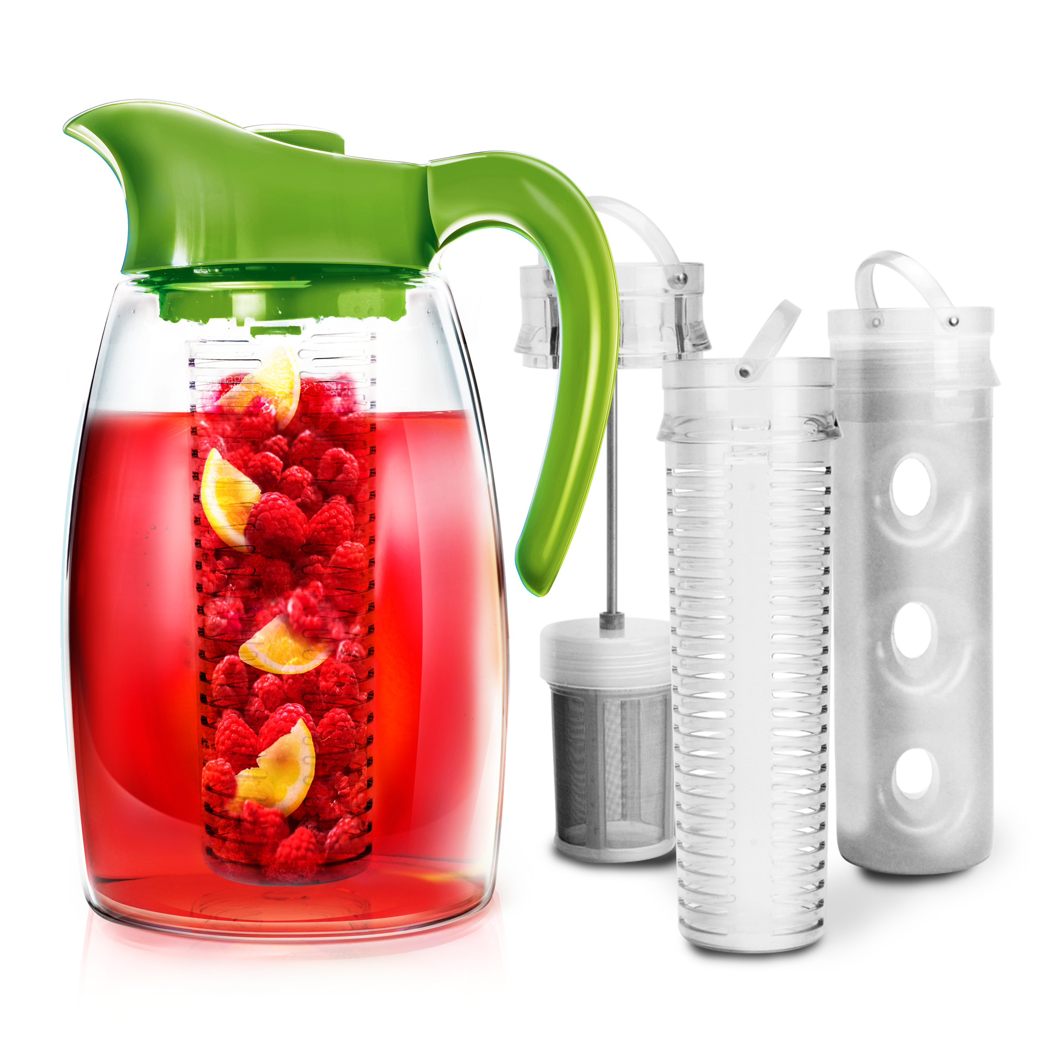 Primula Flavor It Lime 2.9 Quart Beverage System Pitcher with 2 Infusers and 1 Chill Core Insert