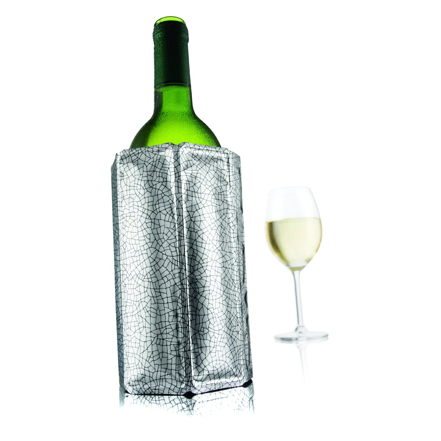 VacuVin Silver Active Wine Cooler Sleeve